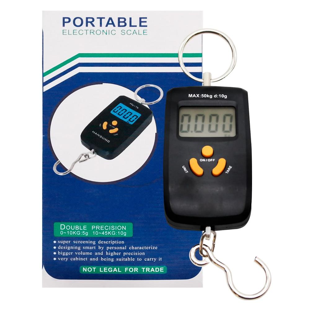 Электронные Весы для багажа Безмен до 45 кг Portable electronic Scale +2 батареи Черный Весы      АлиЭкспресс