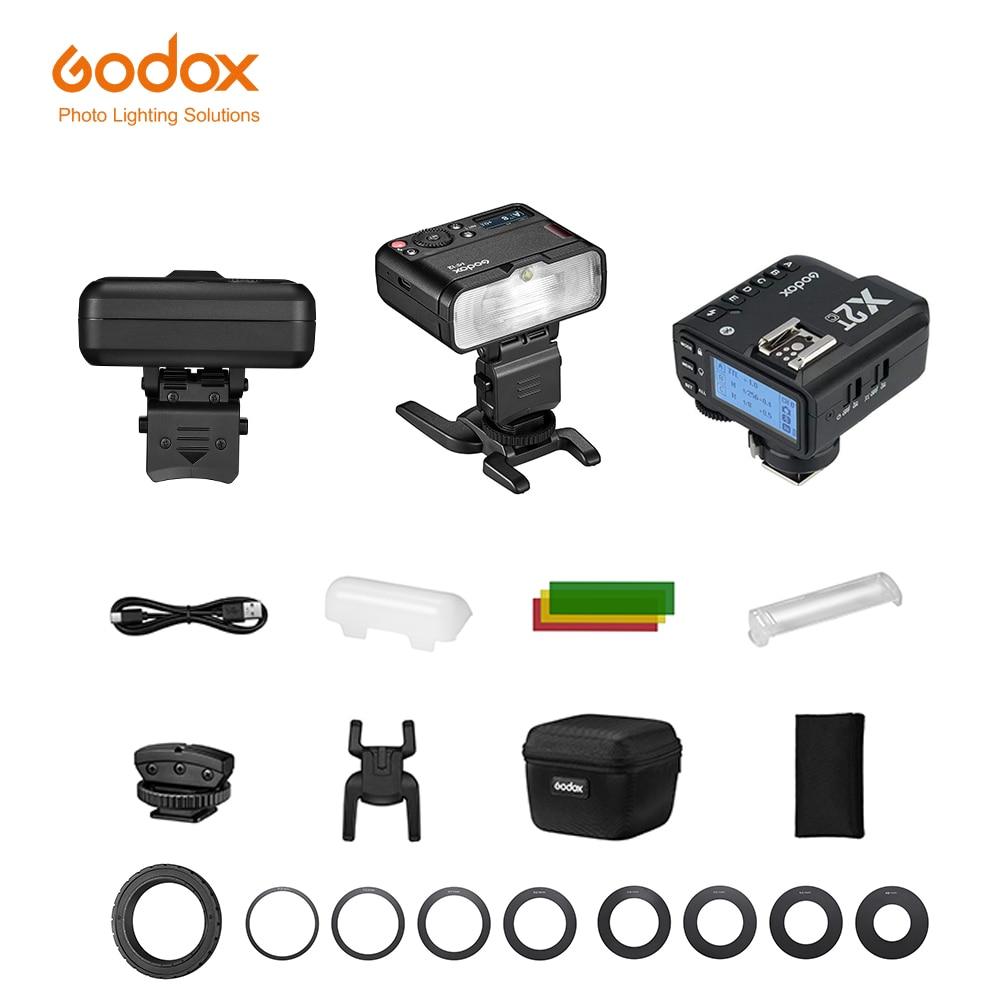 Godox MF12 ماكرو مصباح فلاش صغير المدمج في بطارية ليثيوم X نظام TTL فلاش Speedlite مع لون تصفية الناشر لاطلاق النار الكلي