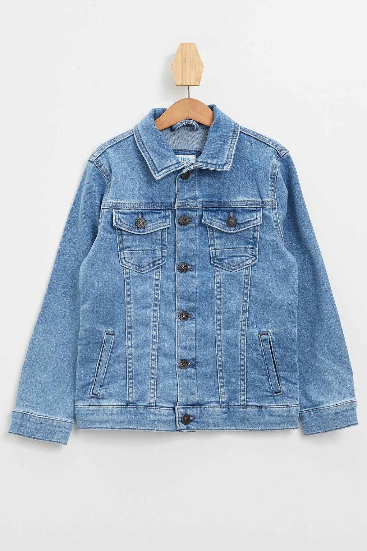 Chaqueta de mezclilla Casual de verano para niño de defact, chaqueta vaquera azul elegante para niño, abrigos de mezclilla a la moda para Jackets-M9846A620SM