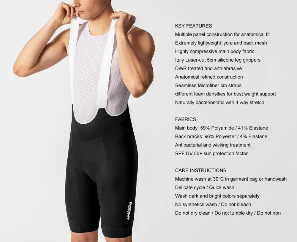 Novo sem Costura Novo Preto Shorts Mtb Verão Men Ciclismo Pro Equipe Microfibra Tiras 2022 Bib