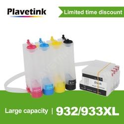 Plavetink Para HP 932 XL Sistema De Tanque de Tinta CISS Para HP Officejet 6100 6600 6700 7110 7610 7612 Impressora Com chip de redefinição