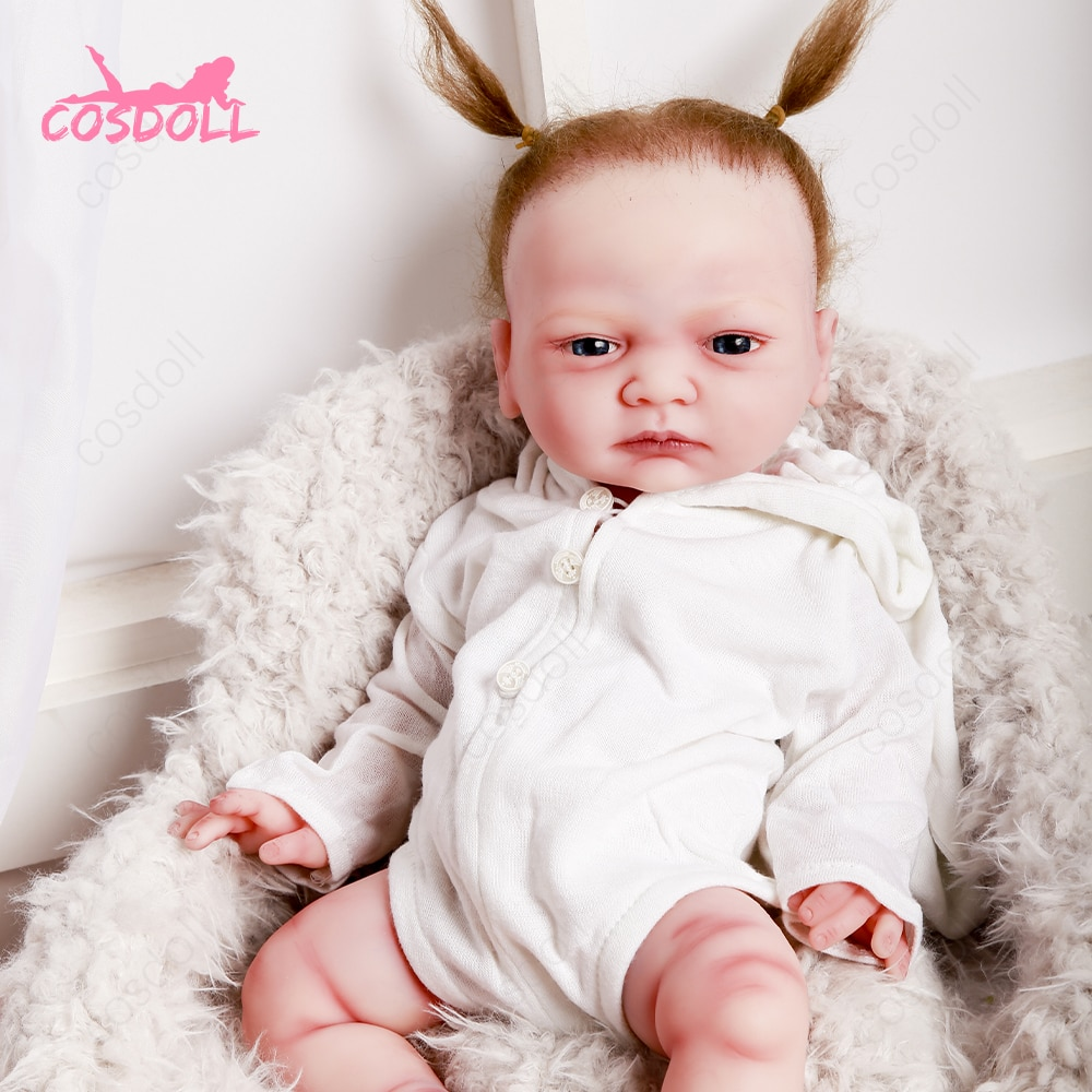 Newest 45CM Full silicone Reborn Baby Dolls for Children Toys Toddler Full Body Silicone Girl Reborn Doll with Summer Clothes