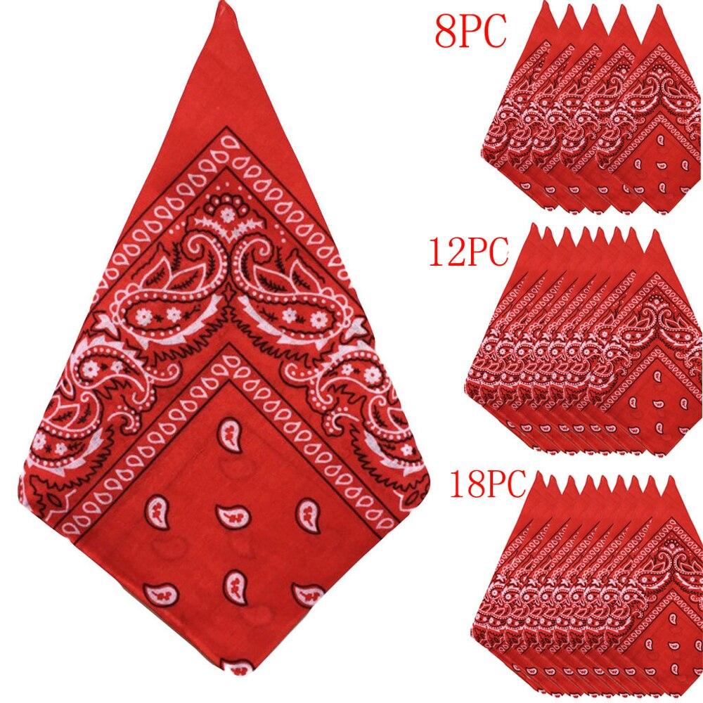 Bandana Foulard Original de cachemir multicolor 100% algodón, Bandana, bandanas, Fichu Mouchoir, Echarpe, Cadeau Homm 8/12/18 Uds.
