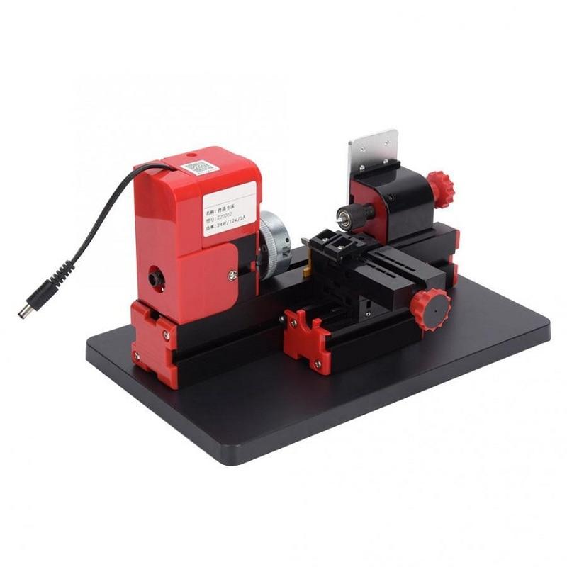 ¡Gran oferta! Minimáquina de torno motorizada DIY, herramienta eléctrica de alta precisión 20000rpm 24W, máquina de torno con herramientas