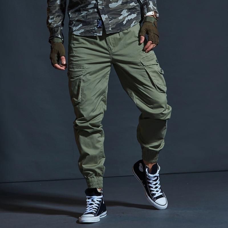 Модные черные армейские брюки с несколькими карманами, высококачественные повседневные брюки хаки, мужские военные тактические джоггеры, ...