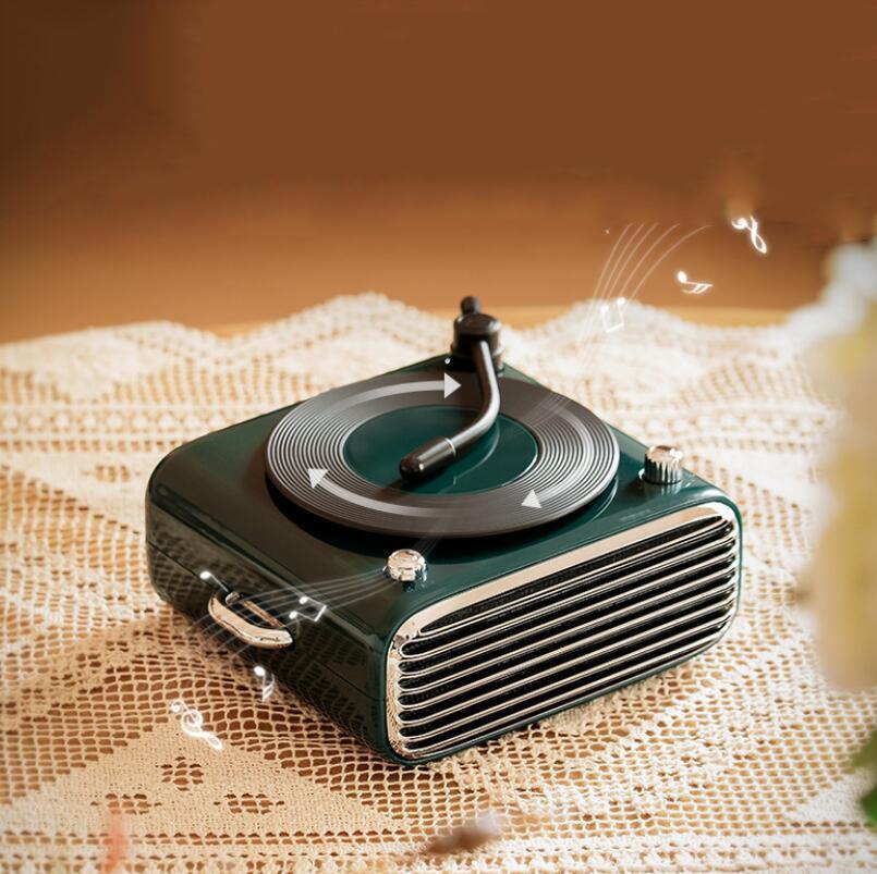 2021 New Creative Vinyl Record Player Bluetooth Speaker Portable Outdoor Car Aromatherapy Radio 6D Subwoofer Atom Audio enlarge