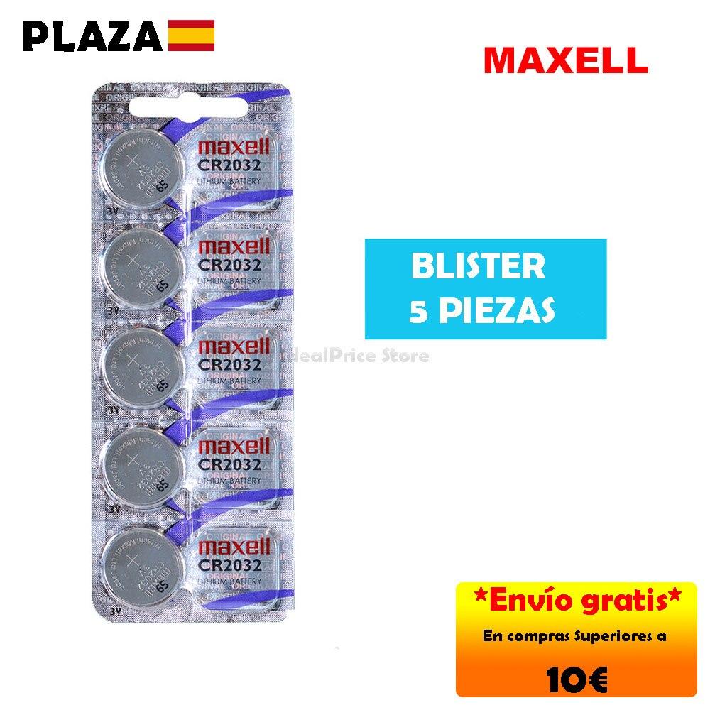 MAXELL® CR2032 3V - Pilas (Litio, Button/coin), paquete de 5 unidades