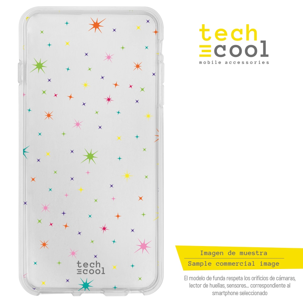 FunnyTech® Funda Silicona para Samsung Galaxy M30s l Estrellas transparente