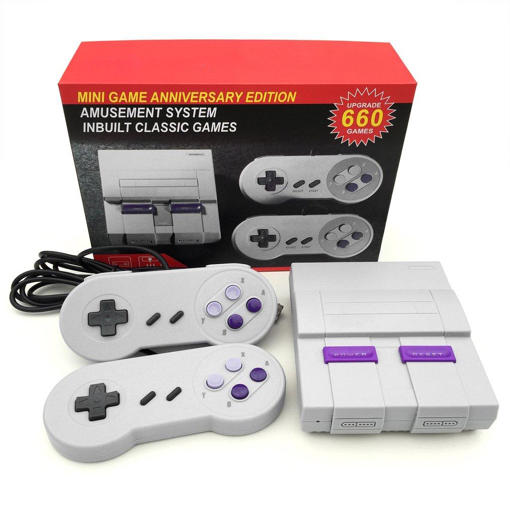 Jogo de vídeo handheld do console do jogo da recreação da família para snes/mega caso com jogos super nintendo retro handheld