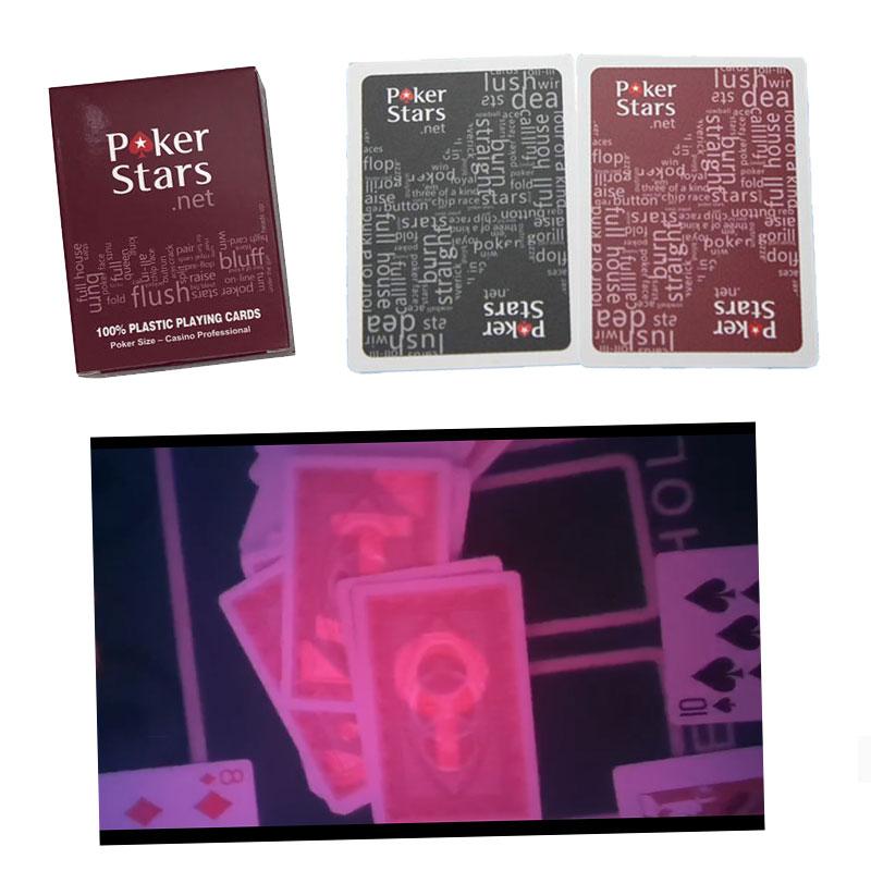 Tarjeta de juego para lentes de contacto magic poker Texas Holdem tinta Invisible marcada tarjeta anti engaño tarjeta Poker estrellas juego de mesa