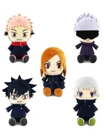 cartoon anime jujutsu kaisen action figure itadori yuji gojo satoru plush toy 10cm pendant 1522cm doll kids birthday gifts k39