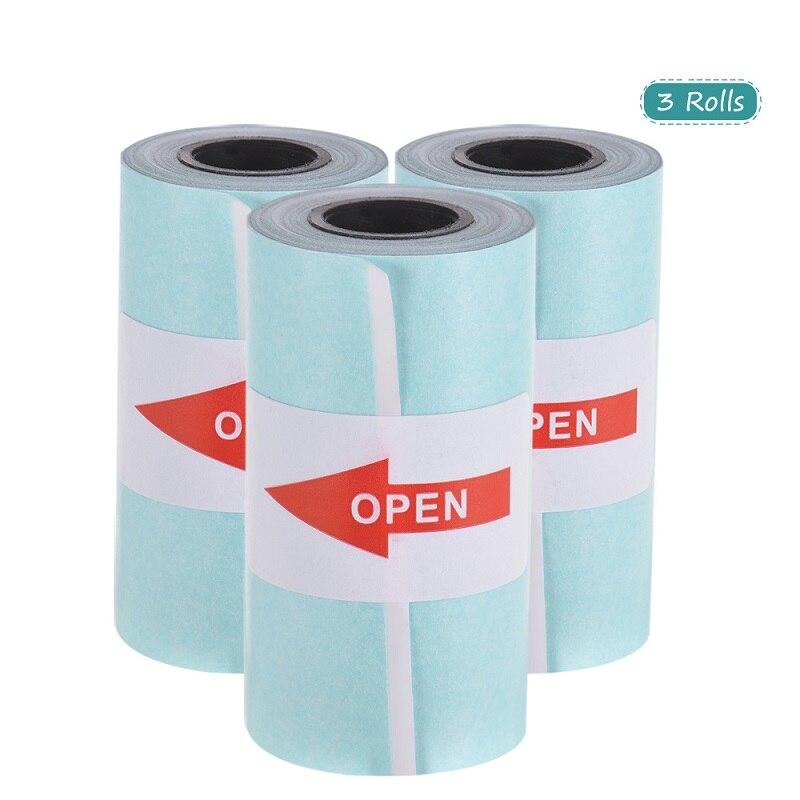 Rollo de papel de pegatina imprimible, papel térmico directo con autoadhesivo 57*30mm (2,17*1,18 pulgadas) para PeriPage A6 Pocket PAPERANG P1/P2