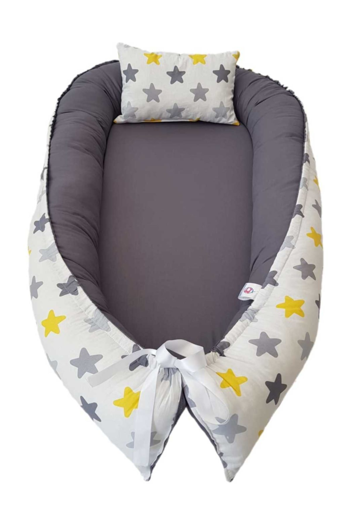 baby nest bed with pillow portable crib travel bed baby toddler cotton Babynest - Sleep And Play Cushion Cotton Fabric enlarge