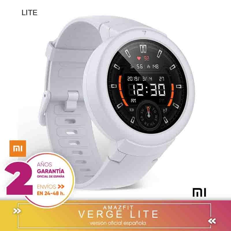 -Garantía Oficial Amazfit En España- Xiaomi Amazfit Verge Lite Smartwatch Deportivo - 20h de Batería  GPS+GLONASS   Sensor Frecu