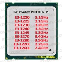 Ordinateur PC Processeur Xeon E3-1220 1225 1230 1240 1270 1280 E3-1260L 1245 1225 1220L CPU Serveur Processeur 4 Code 8 Fils