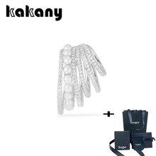 Kakany 2020 nueva moda de alta calidad perla blanca seis vueltas en el oído chaqueta con perlas pendiente de estilo de Mónaco joyería romántica de las señoras