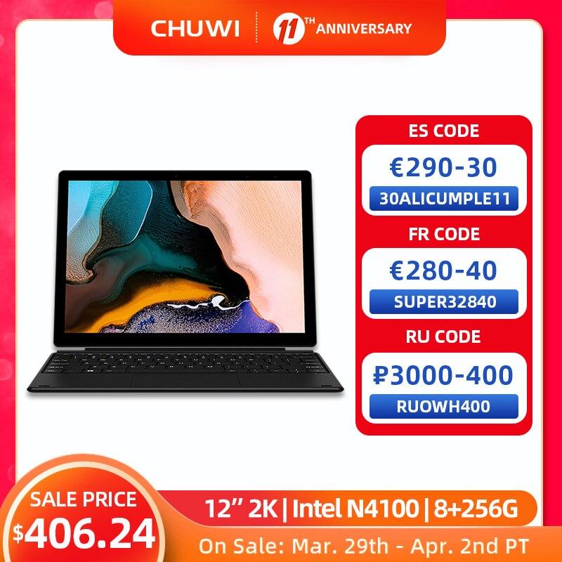 AliExpress - CHUWI UBook X 12″ 2160*1440 Resolution Windows Tablet PC Intel N4100 Quad Core 8GB RAM 256GB SSD Tablets 2.4G/5G Wifi BT 5.0