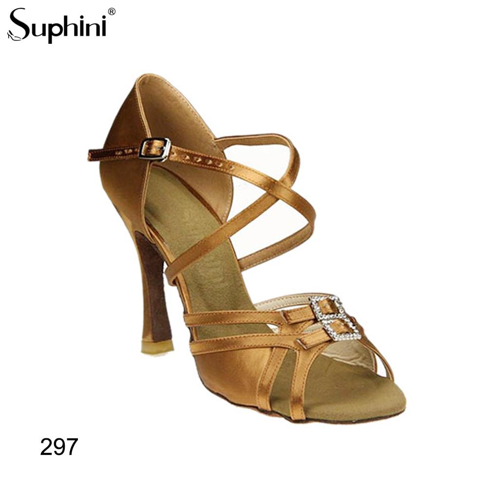 Suphini 10cm Latin Tanz Schuhe Ballsaal Tango Damen Mädchen Satin Tanz Schuhe Für Frauen