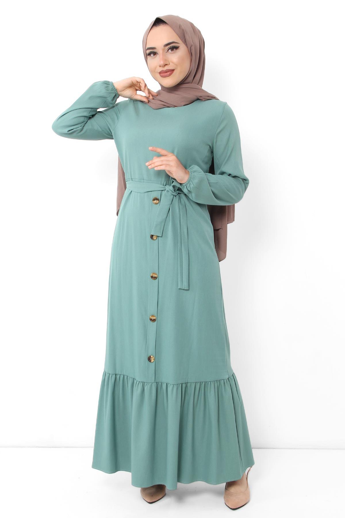 Ornement bouton volants Hijab robe TSD0472 neuf