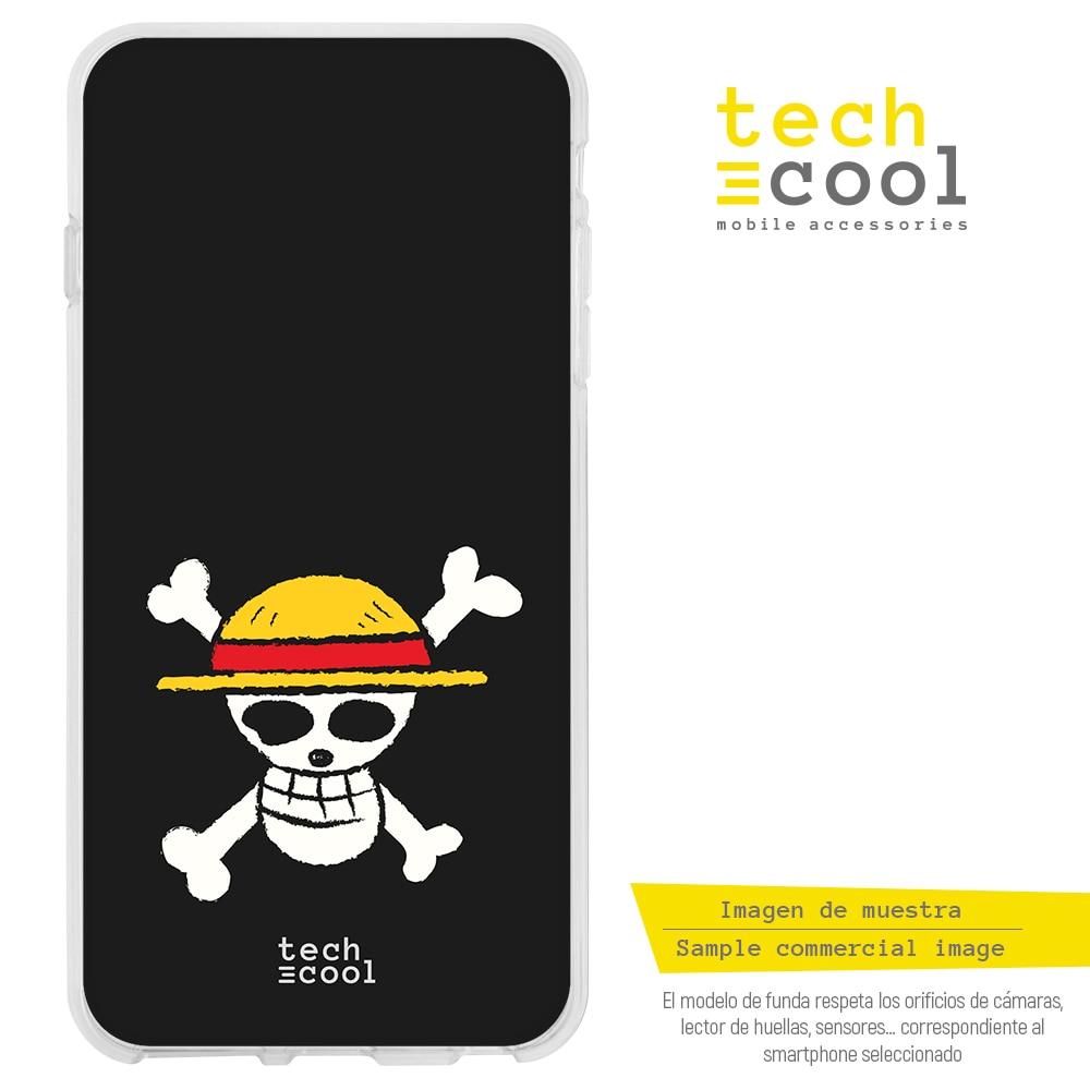 FunnyTech® Funda Silicona para Xiaomi Redmi 6 Pro / Mi A2 Lite l Serie One piece Calavera vers.1 negro
