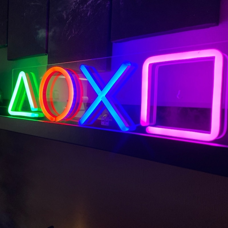 PlayStation Sign Game Console Neon Light Lamp Sign for Gamer Living room LED Neon Sign Room Decor Wall Decor Birthday Gift enlarge