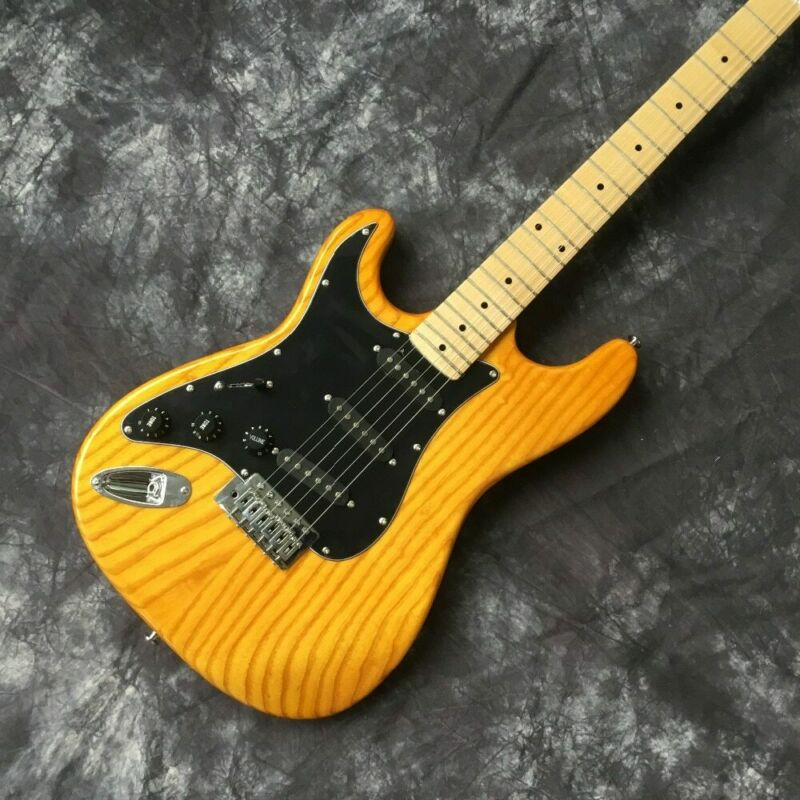 Professional Free Shipping Electric Guitar SSS Pickup 6 String ST Left Handed Style Customized Yellow