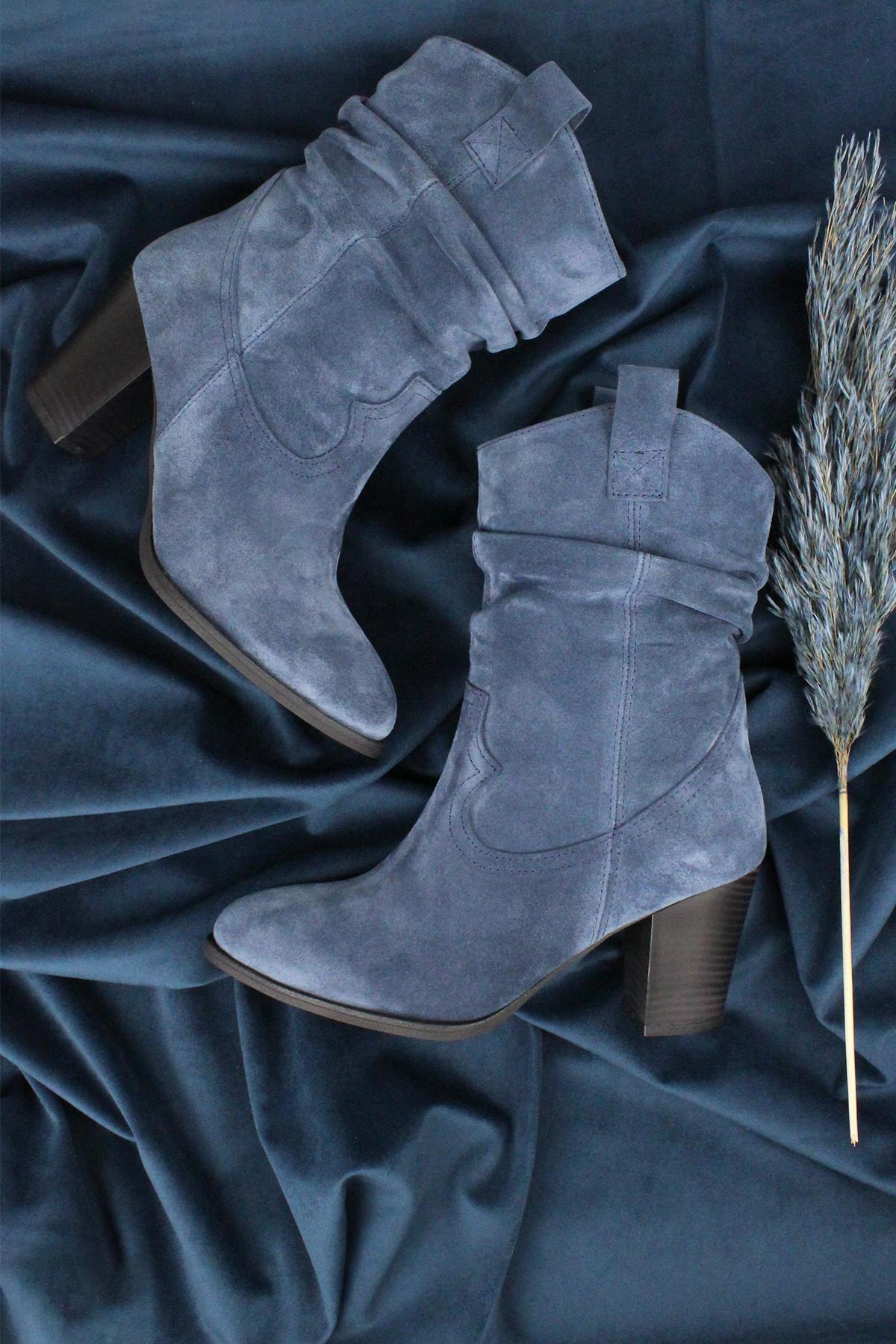 Callizio feminino couro real ocidental botas de salto alto cowboy botas longas 2020 nova temporada cores especiais neve coleção inverno