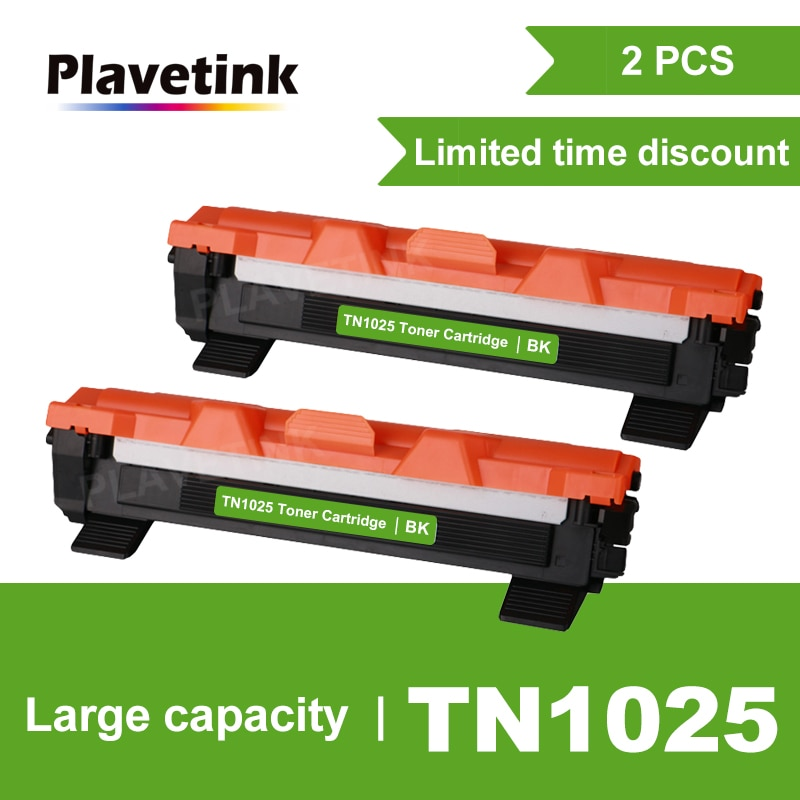 Cartucho de tóner Plavetink TN1025 Compatible para impresora Brother HL-1110 1112 DCP-1510 1512R MFC-1810 1815 negro