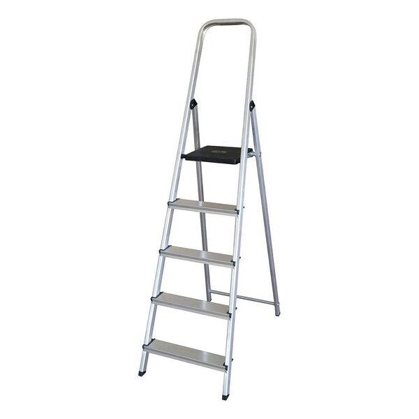 Escada dobrável de 5 etapas (175x45x12 cm)