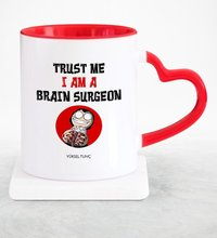 Personalized Professional Neurosurgeon Red Heart Mug Cup-2