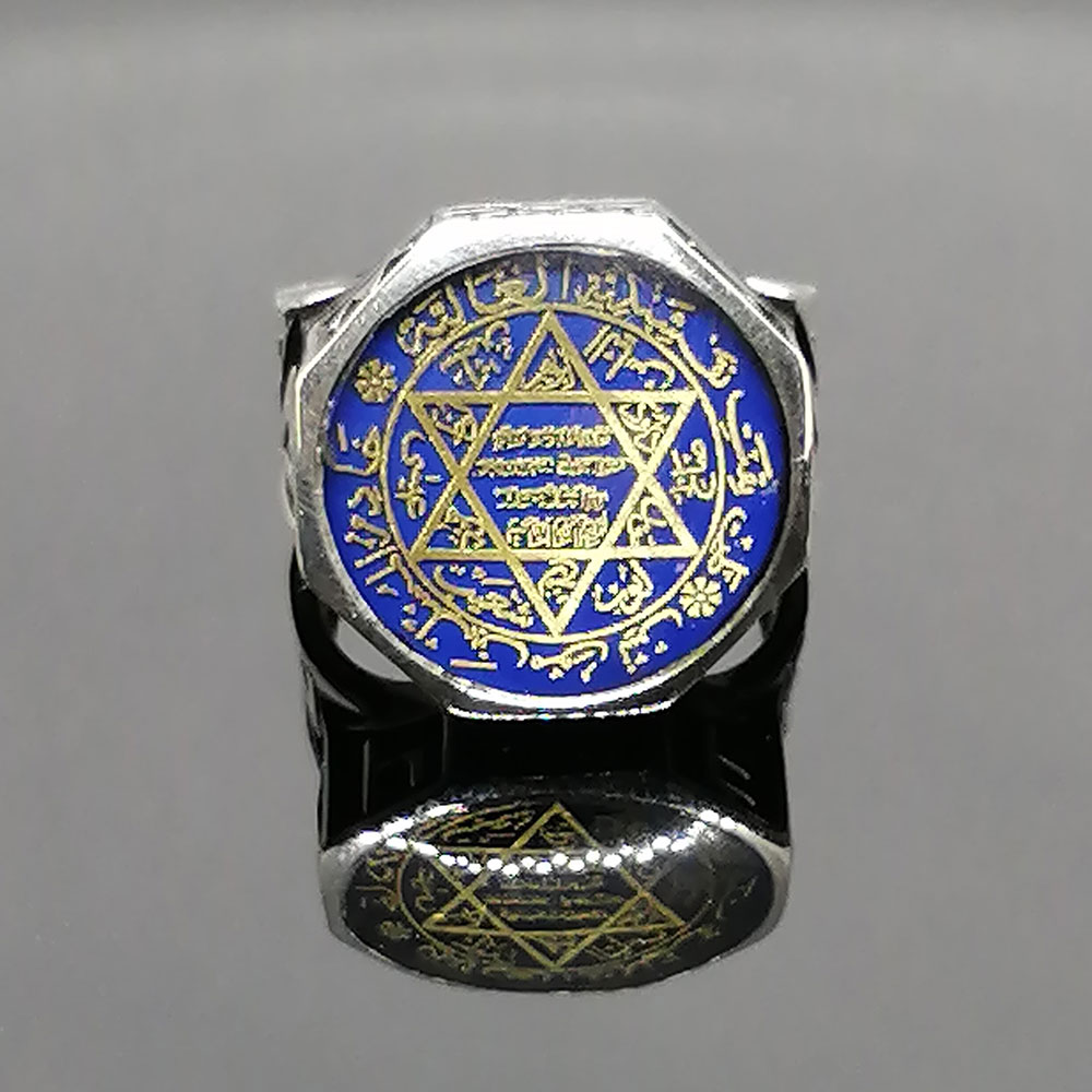 Seal of Prophet Solomon Real Pure Sterling Silver Ring 925 For Men Stamped Patterned High Quality Handmade Turkish Jewelry