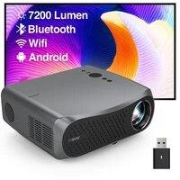900DAB Maison Projecteur 4K Android 6 1 Full HD 1080P WIFI Bluetooth 7200 lumens Home Cinema LED Projecteur Projecteur Pour Smartphone