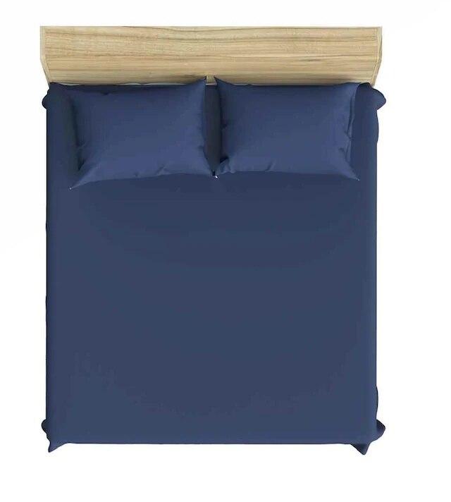 طقم ملاءة سرير مزدوجة ، أزرق داكن ، 160 × 200 ، 150116462
