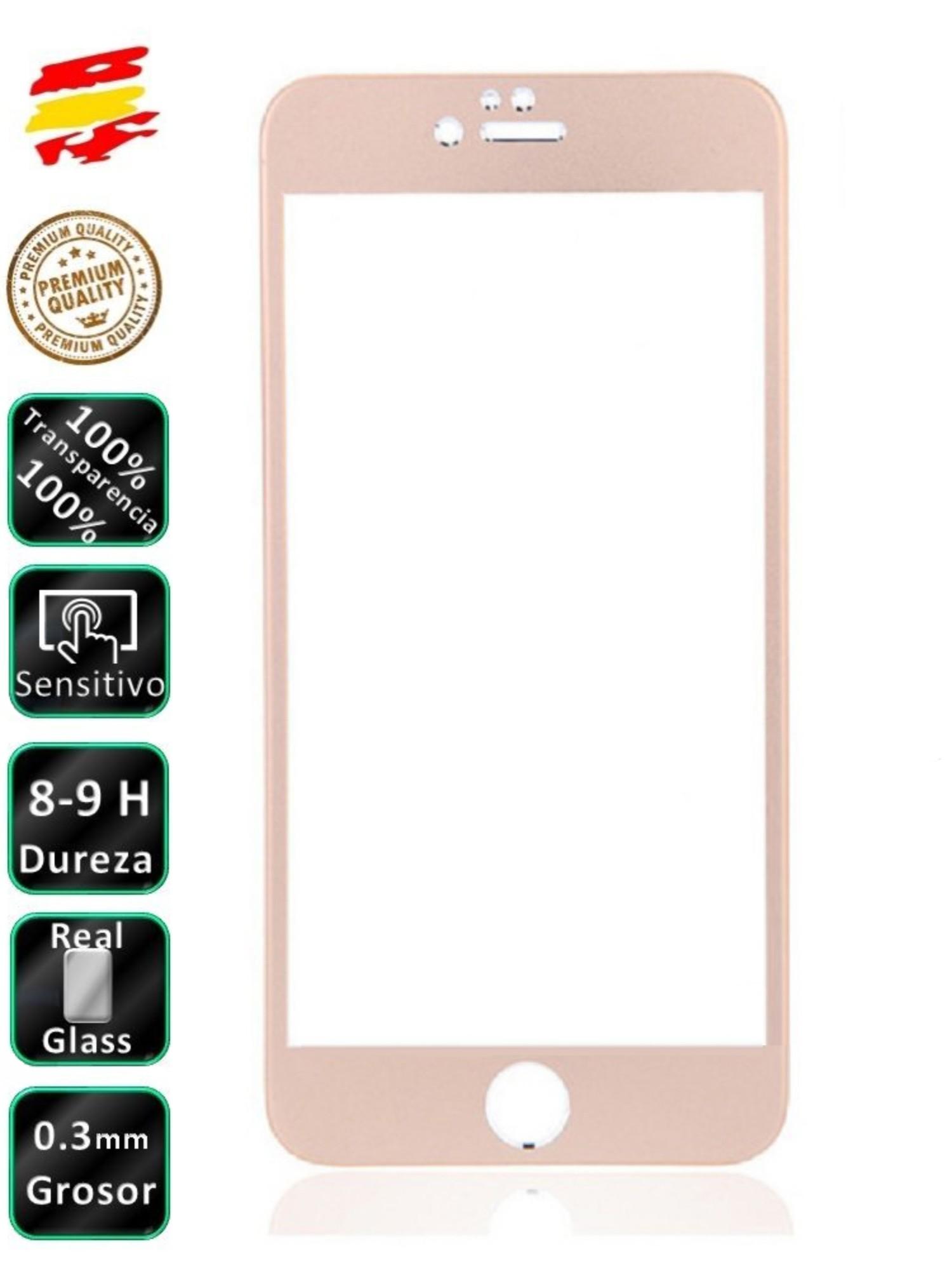 Apple protetora iphone 6 s plus 5.5 cor dourada 3d tela cheia temperado