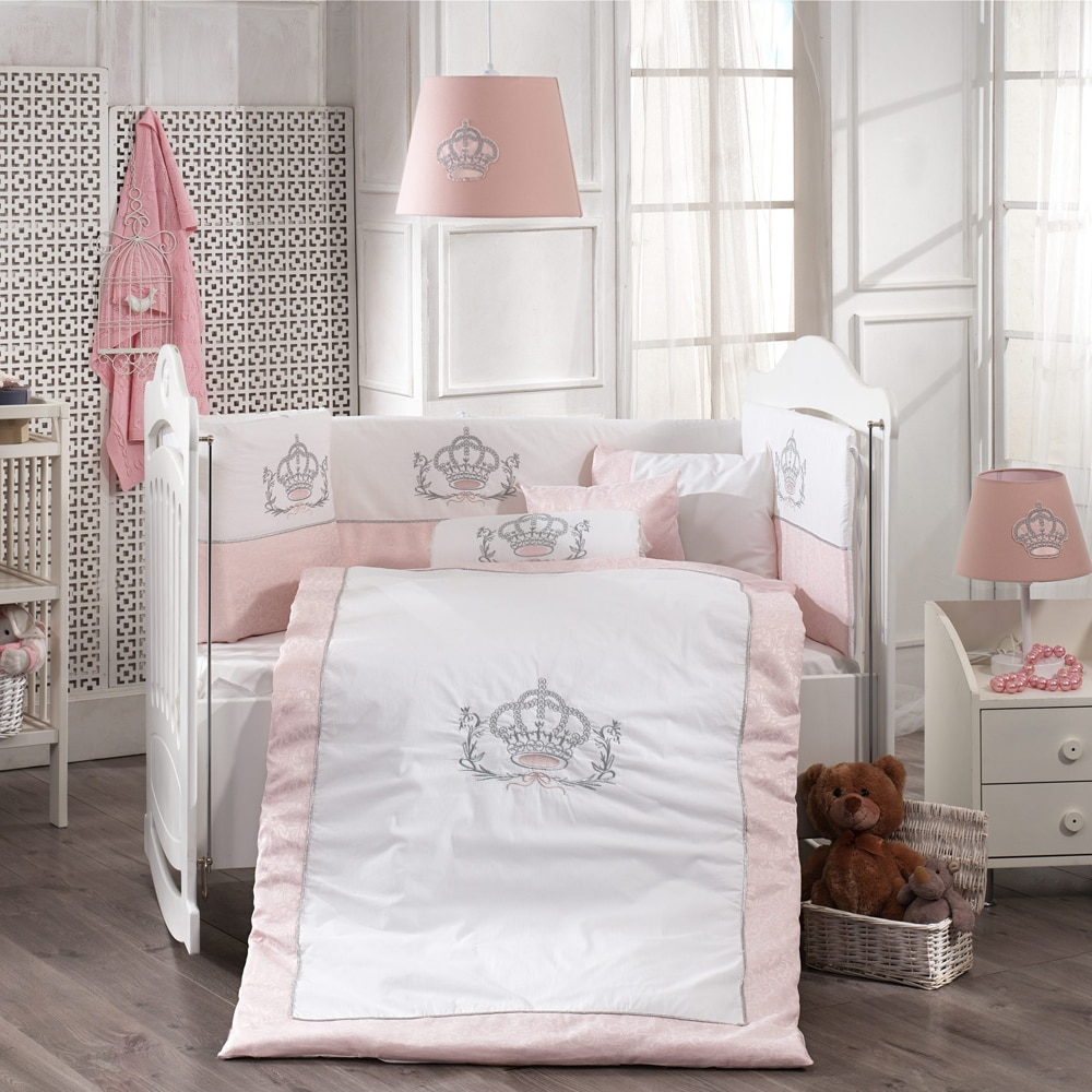 8 pcs Baby Duvet Cover Set, Baby Pillow, Pillowcase, Bed Sheet, Duvet Cover, Bed Cover, Baby Quit Bedding Set For Boys And Girls