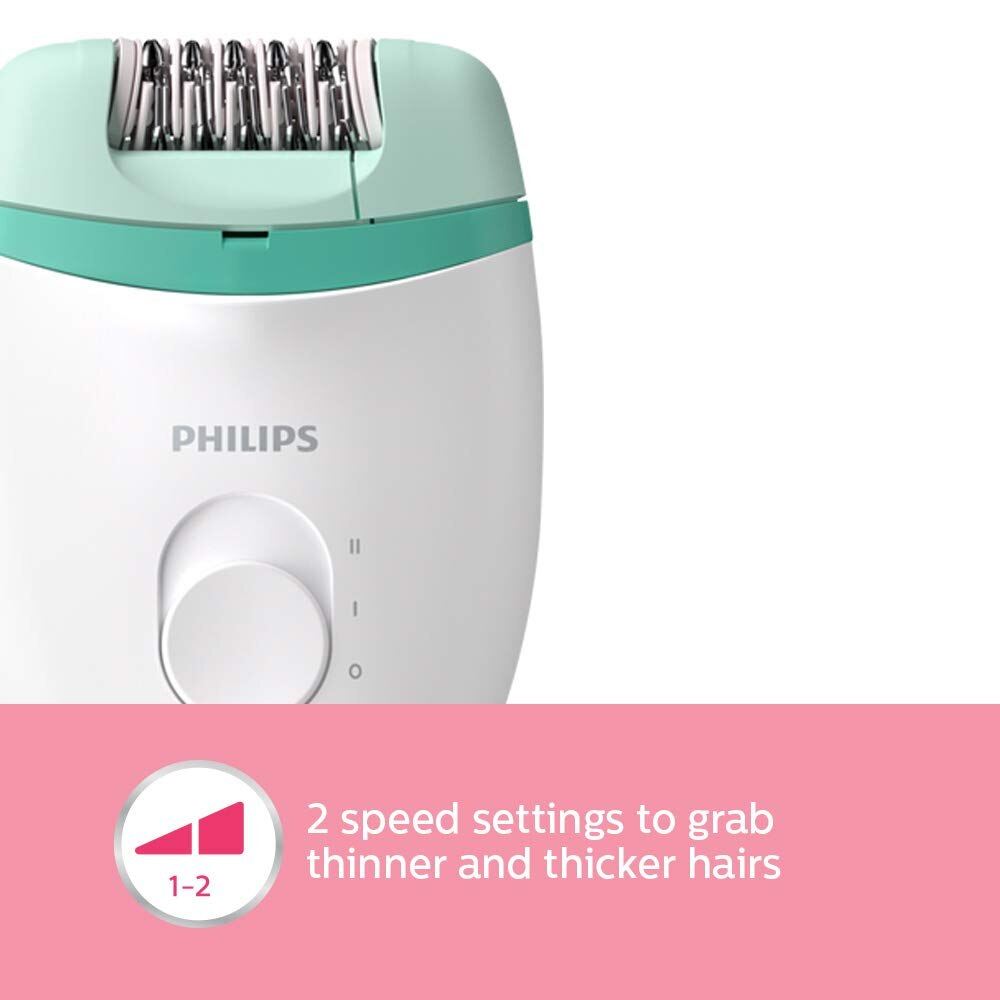 Philips BRE245/00 Corded Compact Epilator (2 in 1 - shaver and epilator) for gentle hair removal at home enlarge