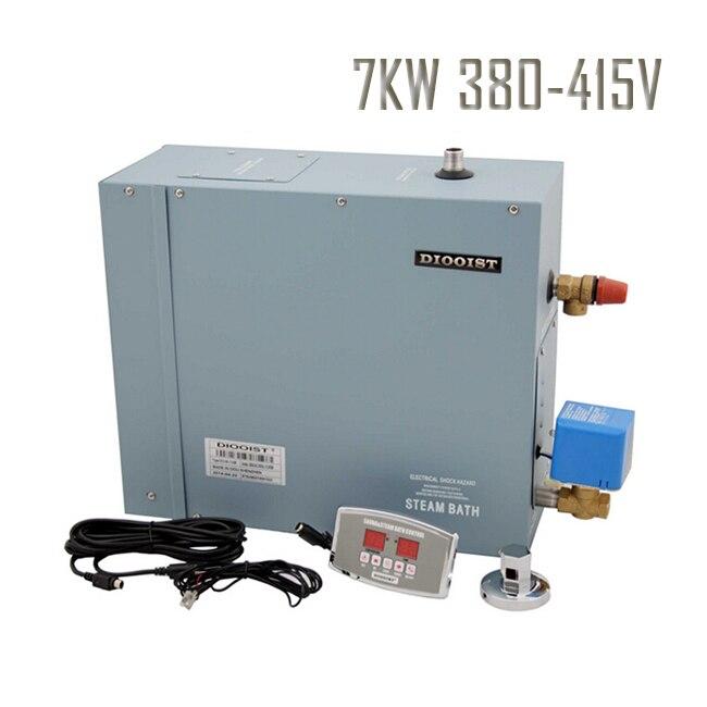 Envío Gratis 7KW 3 fases 380-415V baño de vapor Portátil Baño de vapor húmedo uso de la sala de vapor generador de vapor
