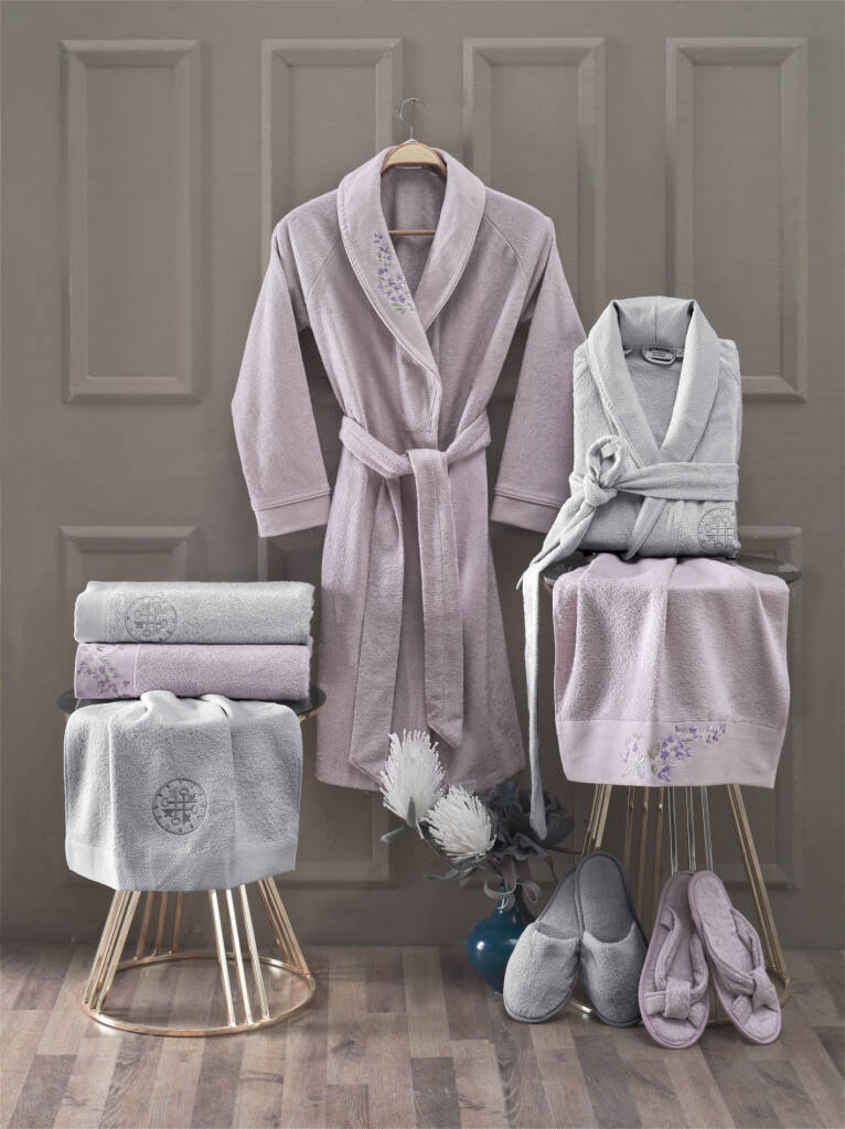 MARISA PREMIUM BAMBOO 8 PIECES FAMILY BATHROBE SET BAMBOO SLIPPERS BAMBOO TOWEL BATH TOWEL HOTEL SPA SAUNA BATH POOL NEW SEASON towel set 2 pieces saheser towel set 2 pieces