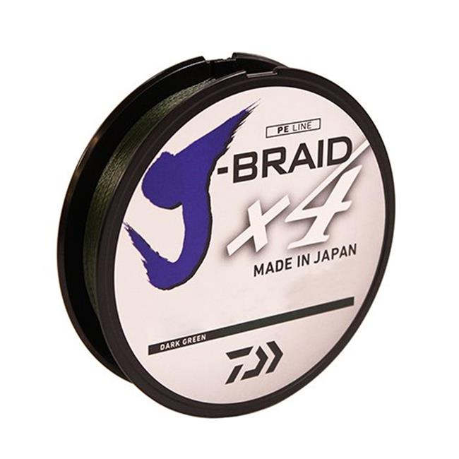 Daiwa JBraid X4 Dark Green 270m Braided Fishing Line