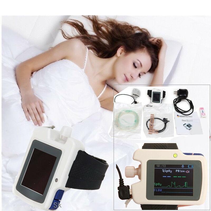 CONTEC RS01 توقف التنفس أثناء النوم شاشة متر مراقبة توقف التنفس أثناء النوم المريض SAHS مع SpO2 التحقيق