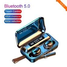 TWS Bluetooth 5.0 Earphones 2200mAh Charging Box Wireless Headphone Stereo Sports Waterproof Earhook