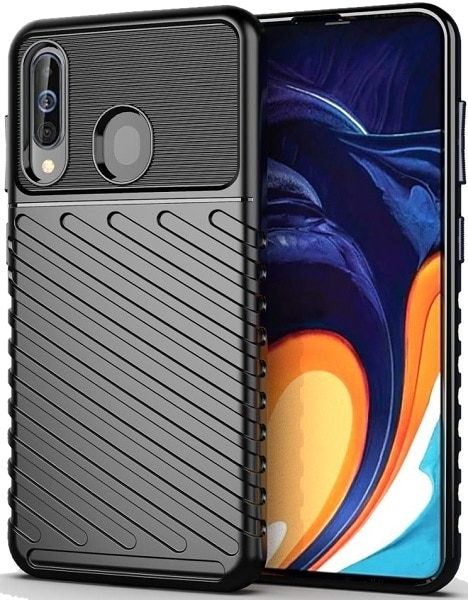 Coque Samsung Galaxy A60 (Galaxy M40) couleur noir (noir), série Onyx, caseport