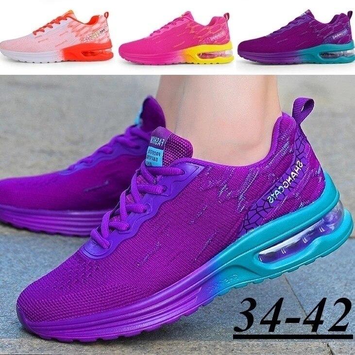 Женская дышащая удобная спортивная обувь для бега, кроссовки без шнуровки, легкая спортивная обувь для бега и прогулок