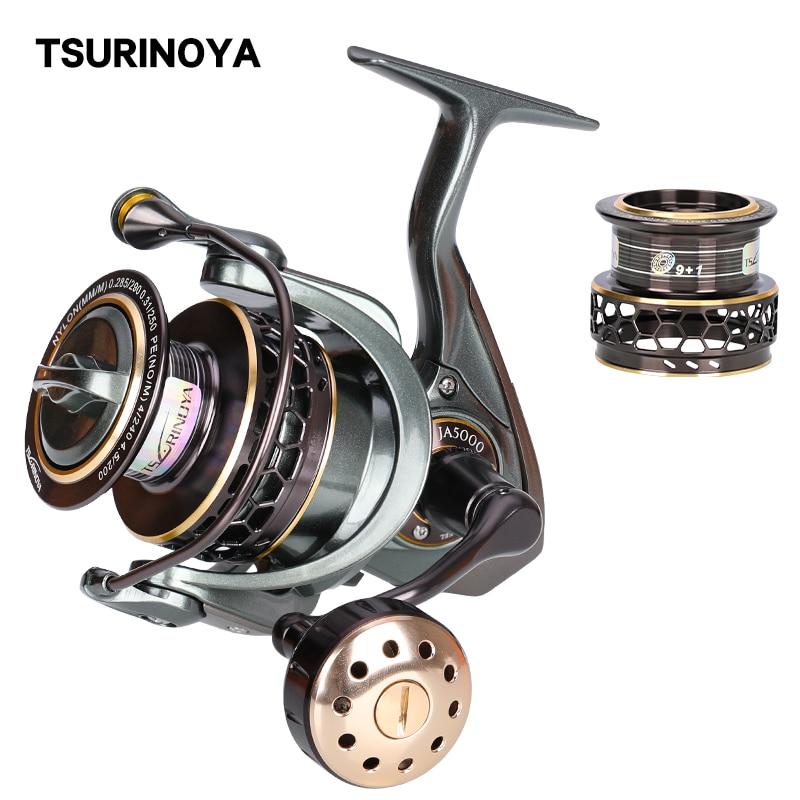 TSURINOYA-بكرة دوارة Jaguar 4000 5000 ، مع بكرات مزدوجة ، عجلة تهزهز متينة في المياه المالحة ، 7 كجم ، القفز الخفيف