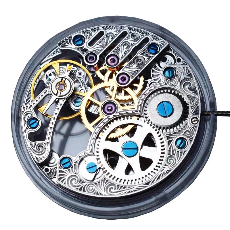Подлинный Чайка St3620k TY3620-2B серебристый механизм ручной скелет полый ручной обмотки ST36 Замена часов ETA 6498 запчасти