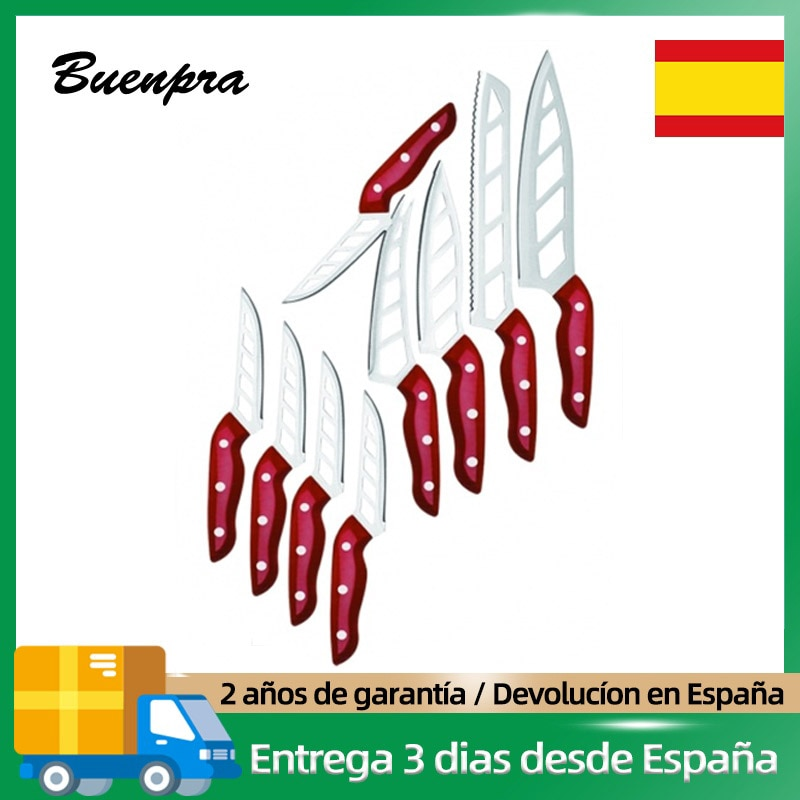 Kitchen Sets of Non-stick Knives games9pcs durability Stainless steel chef Plastic table for meat bread cheese steak accessories professional Multipurpose utensils Innovative with handles high quality Cutlery Fixed