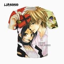 Liasoso 3D Print Mannen Vrouwen Japan Anime Maid Sama Kaicho Wa Meido-Sama Tshirt Zomer T-shirt Casual Korte Mouw x2637