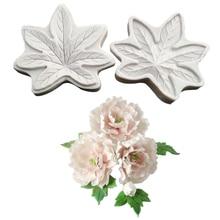 NEW LARGE Peony Leaf Flower Veiner Fondant Cake Decorating Tools Flower Making GumPaste Floral Petal Silicone Mold M2488