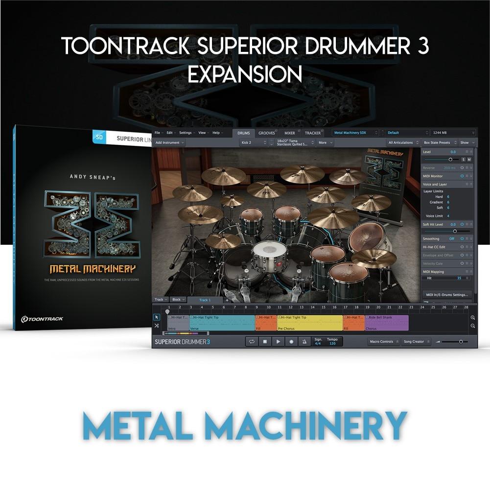 METAL MACHINERY - TOONTRACK SUPERIOR DRUMMER 3 EXPANSION (WINDOWS 64BIT VSTi)