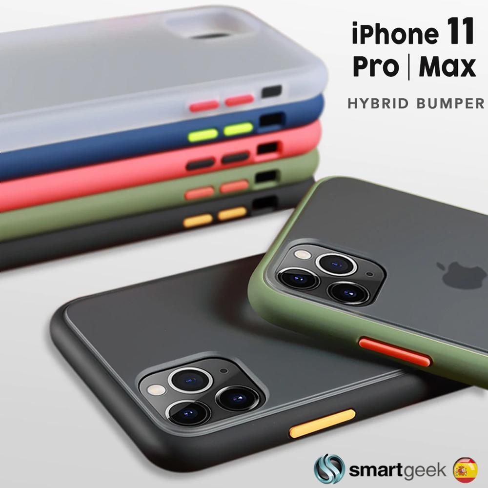 Funda BUMPER Hybrid iPhone 11 Pro Max XI  transparente TPU PC antishock color carcasa